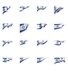 Israel flag on a white vector