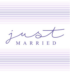 just married calligraphy typography vector image