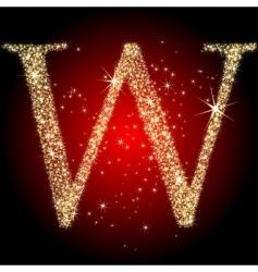 Letter star w vector