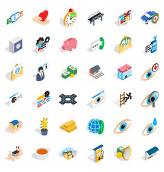medicine icons set isometric style vector image