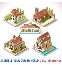 Medieval 01 Tiles Isometric vector image