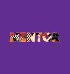 Mentor concept word art vector