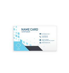 modern business blue name card image vector image