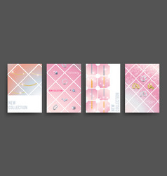 New collection jewelry banners template vector