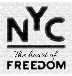 NYC t-shirt design vector image