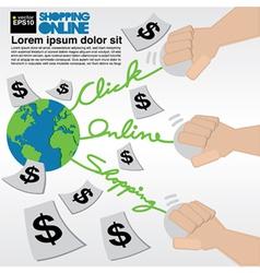 Online Shopping EPS10 vector image