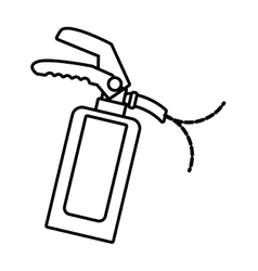 Outline fire extinguisher safety security vector