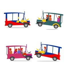 Philippine jeep cartoon vector