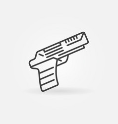 pistol or handgun concept line icon vector image