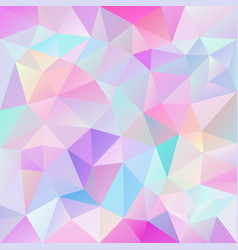 polygonal square background cute pink hologram vector image