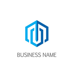 Polygone line business company logo vector