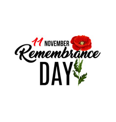 Poster for remembrance day vector