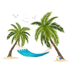 realistic hammock vector image