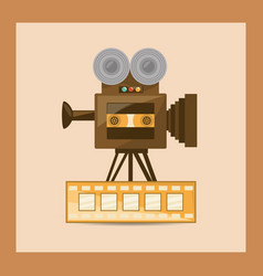Retro videocamera design vector