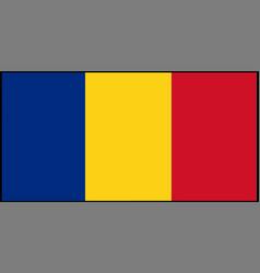 Romania flag isolated on backg vector