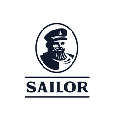 sailor captain ship vector image