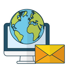 Send email related vector