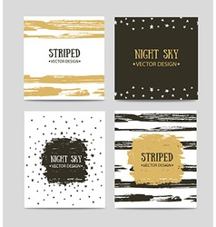 set of beautiful hand drawn greeting cards vector image