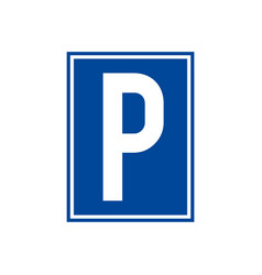 street signage road sign parking area vector image
