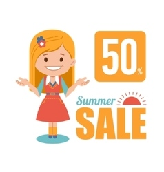 Summer discounts seasonal sale banner vector image