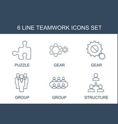 Teamwork icons vector