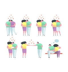 traditional and gay and lesbian couples vector image