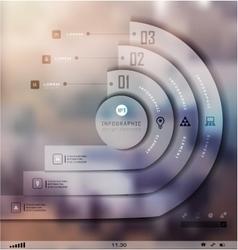 Transparent business Infographics Shadows options vector