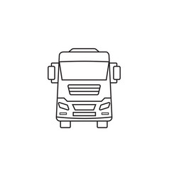Truck icon transport symbol graphics vector