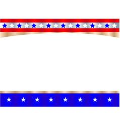 united states flag symbol frame banner vector image