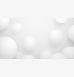 white ball abstract background vector image