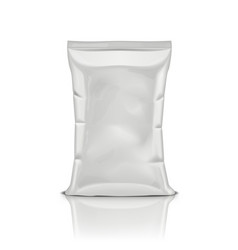 White plastic bag snack package isolated on vector
