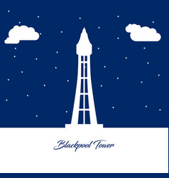 world famous landmarks design with blue background vector image