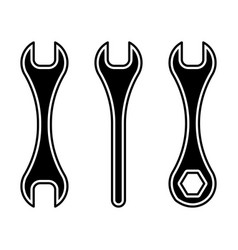 Wrenches black white vector