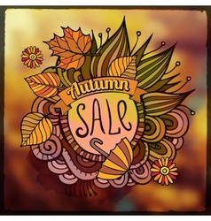 decorative autumn sale blurred background vector image vector image