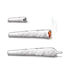 Joint or spliff drug consumption marijuana and vector