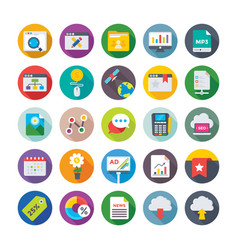 seo and digital marketing icons 11 vector image vector image
