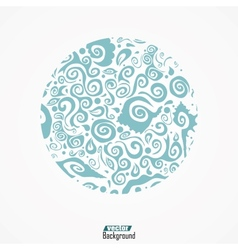 abstract hand-drawn pattern waves background vector image