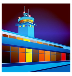 airport at night vector image