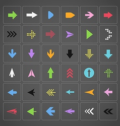 Color arrow buttons interface template vector image