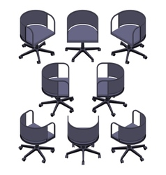 Isometric office spinning chair vector image