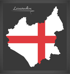 Leicestershire map england uk with english vector