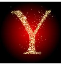 letter star y vector image vector image