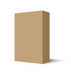 mockup cardboard package box vector image
