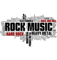 Rock music styles word cloud bubble tag tree vector