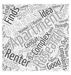 Tips For Finding A Rental Apartment Word Cloud vector image vector image