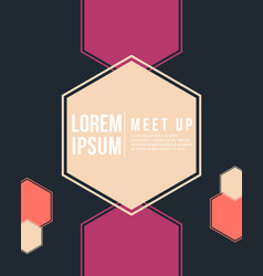 cool colorful background meet up style card vector image vector image