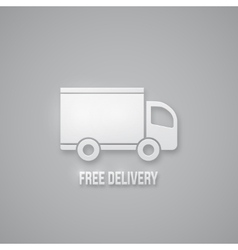 Free delivery sign vector image vector image