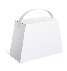 Light Package Box with a handle vector image vector image