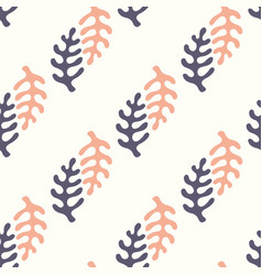 seamless pattern with stylized elements vector image