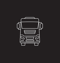 truck icon transport symbol graphics vector image vector image